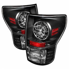 2007-2012 Toyota Tundra LED Tail Lights (PAIR) - Black (Spyder Auto)