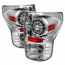 2007-2012 Toyota Tundra LED Tail Lights (PAIR) - Chrome (Spyder Auto)