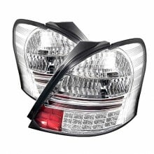 2007-2008 Toyota Yaris 2Dr LED Tail Lights (PAIR) - Chrome (Spyder Auto)