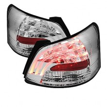 2007-2009 Toyota Yaris 4Dr LED Tail Lights (PAIR) - Chrome (Spyder Auto)