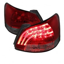 2007-2009 Toyota Yaris 4Dr LED Tail Lights (PAIR) - Red Smoke (Spyder Auto)