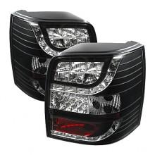 1997-2000 Volkswagen Passat 5Dr Light Bar Style LED Tail Lights (PAIR) - Black (Spyder Auto)