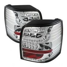 1997-2000 Volkswagen Passat 5Dr Light Bar Style LED Tail Lights (PAIR) - Chrome (Spyder Auto)