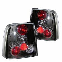 1997-2000 Volkswagen Passat Euro Style Tail Lights (PAIR) - Black (Spyder Auto)