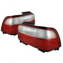 1993-1997 Toyota Corolla Tail Lights (PAIR) - Red Clear (Spyder Auto)