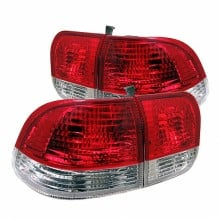 1996-1998 Honda Civic 4Dr Tail Lights (PAIR) - Red Clear (Spyder Auto)