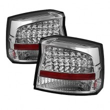 2009-2020 Dodge Charger 2010 LED Tail Lights (PAIR) - Chrome (Spyder Auto)