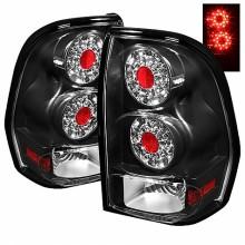 2002-2009 Chevy TrailBlazer LED Tail Lights (PAIR) - Black (Spyder Auto)