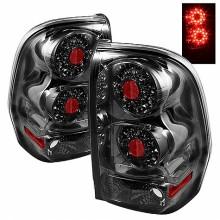 2002-2009 Chevy TrailBlazer LED Tail Lights (PAIR) - Smoke (Spyder Auto)