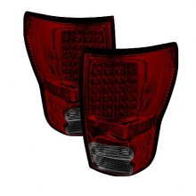 2007-2012 Toyota Tundra LED Tail Lights (PAIR) - Red Smoke (Spyder Auto)