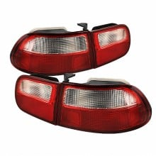 1992-1995 Honda Civic 3DR Euro Style Tail Lights (PAIR) - Red Clear (Spyder Auto)