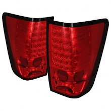2004-2012 Nissan Titan LED Tail Lights (PAIR) - Red (Spyder Auto)