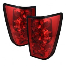 2004-2012 Nissan Titan Euro Style Tail Lights (PAIR) - Red (Spyder Auto)