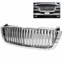 2003-2006 Chevy Silverado Center Only ( Require HD-YD-CS03-1PC Headlight ) Front Grille - Chrome (Spyder Auto)