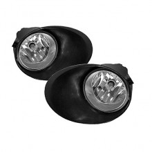 2007-2012 Toyota Tundra 5.7L V8 OEM Fog Lights (PAIR) (Pre-Wire Chrome Bumper) - Clear (Spyder Auto)