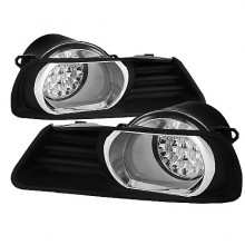 2007-2009 Toyota Camry LED Fog Lights (PAIR) - Clear (Spyder Auto)