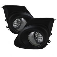 2011-2012 Toyota Corolla LED Fog Lights (PAIR) - Clear (Spyder Auto)