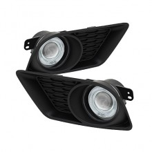 2011-2020 Dodge Charger 2013 Halo Projector Fog Lights (PAIR) - Clear (Spyder Auto)