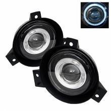 2001-2003 Ford Ranger (Circle Sharp Bumper) Halo Projector Fog Lights (PAIR) - Clear (Spyder Auto)