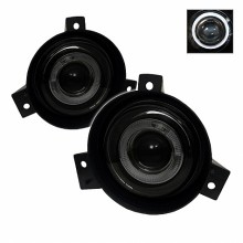 2001-2003 Ford Ranger (Circle Sharp Bumper) Halo Projector Fog Lights (PAIR) - Smoke (Spyder Auto)