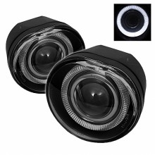 2002-2004 Jeep Liberty Halo Projector Fog Lights (PAIR) - Smoke (Spyder Auto)