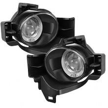 2010-2012 Nissan Altima 4Dr Halo Projector Fog Lights (PAIR) - Clear (Spyder Auto)