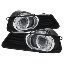 2007-2009 Toyota Camry Halo Projector Fog Lights (PAIR) - Clear (Spyder Auto)