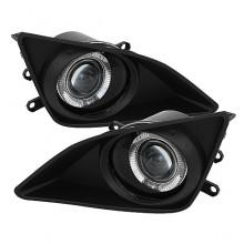 2009-2010 Toyota Corolla Halo Projector Fog Lights (PAIR) - Clear (Spyder Auto)