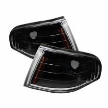 1994-1998 Ford Mustang Amber Corner Lights (PAIR) - Black (Spyder Auto)