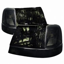 1998-2000 FORD  RANGER  COMBO: HEADLIGHTS (PAIR) AND CORNER LIGHT SMOKED (Spec-D Tuning)