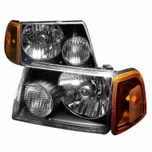 2001-2004 FORD RANGER CRYSTAL HOUSING HEADLIGHTS (PAIR) BLACK (Spec-D Tuning)