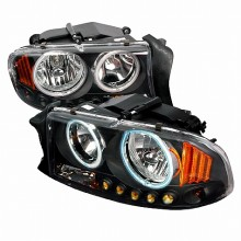 1997-2003 DODGE DURANGO CRYSTAL HOUSING HEADLIGHTS (PAIR) BLACK (Spec-D Tuning)