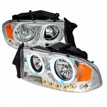 1997-2003 DODGE DURANGO CRYSTAL HOUSING HEADLIGHTS (PAIR) CHROME (Spec-D Tuning)