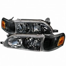 1993-1997 TOYOTA COROLLA CRYSTAL HOUSING HEADLIGHTS (PAIR) BLACK (Spec-D Tuning)