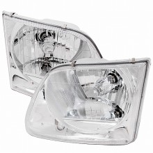 1997-2002 FORD EXPEDITION CRYSTAL HOUSING HEADLIGHTS (PAIR) CHROME (Spec-D Tuning)