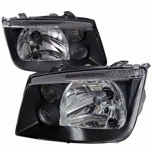 1999-2004 VOLKSWAGEN  JETTA  EURO HEADLIGHTS (PAIR) BLACK HOUSING  (Spec-D Tuning)