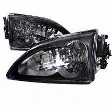 1994-1998 FORD MUSTANG  BLACK HOUSING HEADLIGHTS (PAIR)  (Spec-D Tuning)