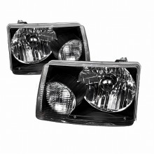 2001-2008 FORD  RANGER  EURO HEADLIGHTS (PAIR) BLACK HOUSING  (Spec-D Tuning)