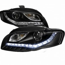 2006-2008 AUDI  A4 PRJECTOR HEADLIGHTS (PAIR) BLACK R8 STYLE  (Spec-D Tuning)