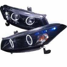 2008-2013 HONDA  ACCORD  SMOKED LENS GLOSS BLACK HOUSING PROJECTOR HEADLIGHTS (PAIR) (Spec-D Tuning)