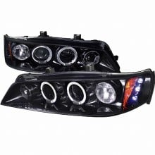1994-1997 HONDA  ACCORD  SMOKED LENS GLOSS BLACK HOUSING PROJECTOR HEADLIGHTS (PAIR) (Spec-D Tuning)