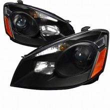 2005-2006 NISSAN ALTIMA  PROJECTOR HEADLIGHTS (PAIR) BLACK HOUSING  (Spec-D Tuning)