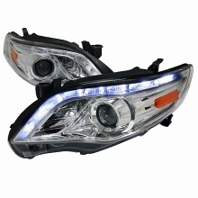 2011-2013  TOYOTA  COROLLA  PROJECTOR HEADLIGHTS (PAIR) CHROME HOUSING  (Spec-D Tuning)