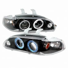 1992-1995 HONDA CIVIC HALO PROJECTOR HEADLIGHTS (PAIR) BLACK (Spec-D Tuning)