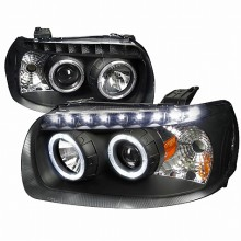 2005-2007 FORD ESCAPE  PROJECTOR HEADLIGHTS (PAIR) BLACK HOUSING (Spec-D Tuning)