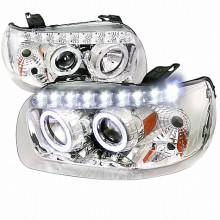 2005-2007 FORD  ESCAPE  PROJECTOR HEADLIGHTS (PAIR) CHROME WITH AMBER REFLECTOR (Spec-D Tuning)