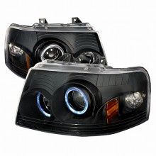 2003-2006 FORD EXPEDITION HALO PROJECTOR HEADLIGHTS (PAIR) BLACK (Spec-D Tuning)