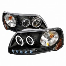 1997-2002 FORD EXPEDITION HALO PROJECTOR HEADLIGHTS (PAIR) BLACK (Spec-D Tuning)