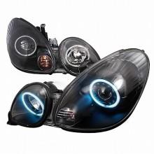 1998-2005 LEXUS GS300 CCFL HALO PROJECTOR HEADLIGHTS (PAIR) BLACK (Spec-D Tuning)