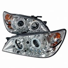 2001-2005 LEXUS IS300 CCFL HALO PROJECTOR HEADLIGHTS (PAIR) CHROME (Spec-D Tuning)